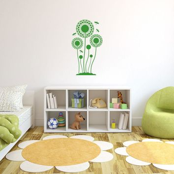 Dandelions with Dragonfly Wall Decal