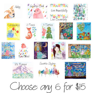 Blank Note Cards, Gift Card Set, Art Cards, Watercolor Cards, Card Set, Customized Cards, Stationery, Greeting Cards, Thank You Cards
