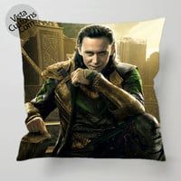 Loki Tom Hiddleston The Avengers Style pillow case, cover ( 1 or 2 Side Print With Size 16, 18, 20, 26, 30, 36 inch )