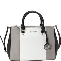 MICHAEL Michael Kors Sutton Center Stripe Medium Satchel - eBags.com