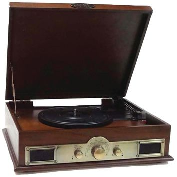 Pyle Classic Style Turntable With Bluetooth (maple Burst)