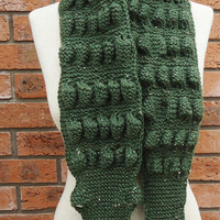 Unisex Alligator/Gator/Crocodile Scarf, Chunky Scarf , Crocodile Scarf in Green, UK Seller