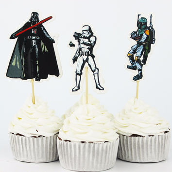 Star Wars Party cupcake toppers 24pcs