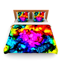 "Claire Day ""Sweet Sour"" Queen Fleece Duvet Cover - Outlet Item"