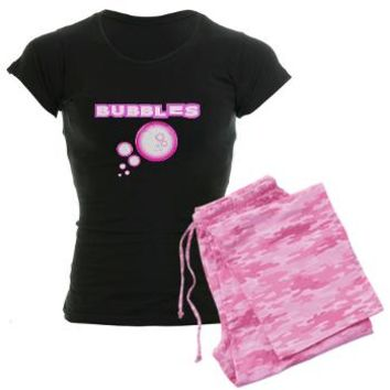 Bubbles Pink! Pajamas Black - Girl Tease