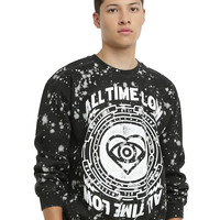 All Time Low Splatter Crew Pullover