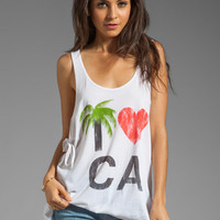 Rebel Yell I Heart CA Tie Tank in White from REVOLVEclothing.com