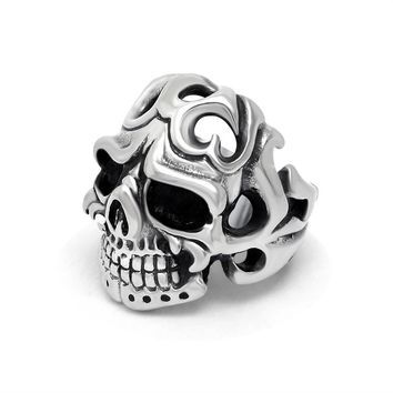 Jewelry New Arrival Shiny Gift Stylish Vintage Punk Skull Strong Character Titanium Accessory Ring [6544845763]