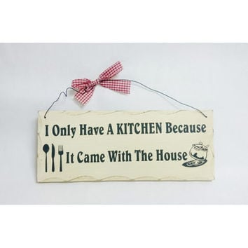 "Wooden Sign Decor - Kitchen 10"" x 4"""