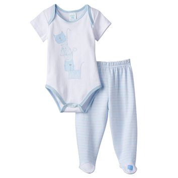 LuvGear TempAlert Bodysuit & Footed Pants Set - Baby