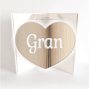 Book Folding Pattern , Bookami, GRAN IN HEART, 818 Pages/409 Folds, Free Book Folding Tutorial, Instant Download Pdf, Diy Craft Gift