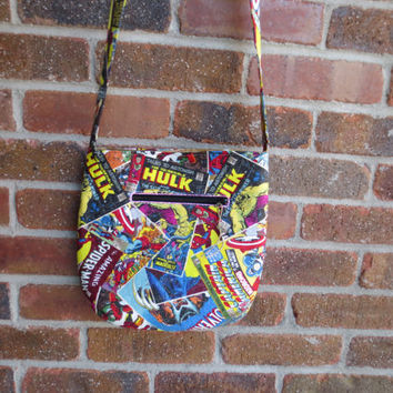 Marvel Comic - Cross body bag - Wallet - Comic bag - Marvel Bag - with matching wallet