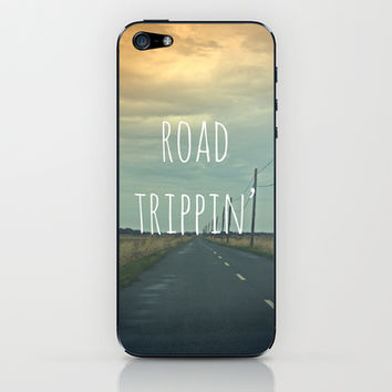 Road Trippin' iPhone & iPod Skin by Ally Coxon
