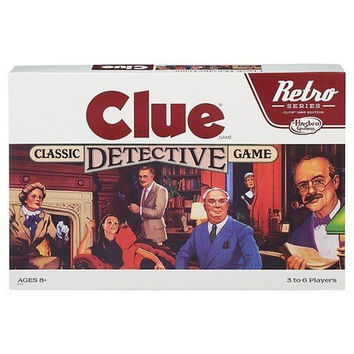 Hasbro Gaming Retro Clue Board Game '