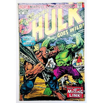 The Incredible Hulk #179 (Marvel 1974) Missing Link, Brickfords, Talbot, Romita