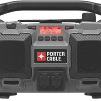 PORTER-CABLE PC18JR 18-Volt Cordless / 120-Volt Corded Jobsite Radio