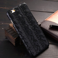 Black Weave iPhone 6 6s Plus Case Cover Gift 20