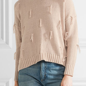 Madewell - Tasseled cotton sweater