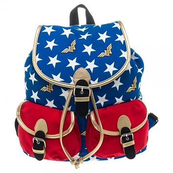 DC Comics Womens Wonder Woman Knapsack Backpack