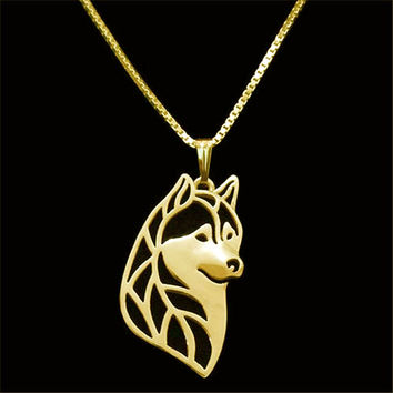 Stunning Husky Pendant Necklace
