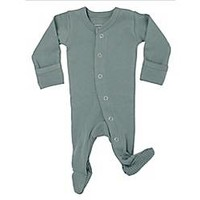 L'ovedbaby® Preemie/Newborn Organic Cotton Footie in Seafoam