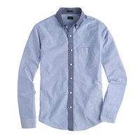 J.Crew Mens Slim Vintage Oxford Shirt With Contrast Collar