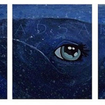 Humpback Whale Painting, Triptych Art, Whale Art, Marine Animal Art, Marine Life Art, Ocean Painting, Animal Art, Ocean Themed Decor