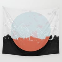 Landscape Abstract Wall Tapestry by Mareike Böhmer Graphics