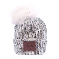 Navy Speckled Pom Beanie - Love Your Melon