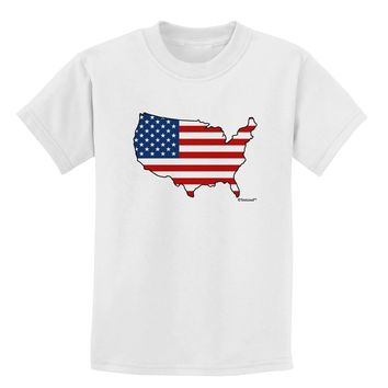 United States Cutout - American Flag Design Childrens T-Shirt by TooLoud