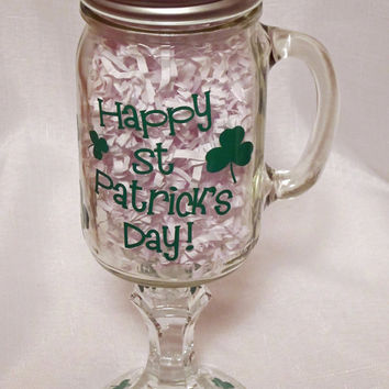 St Patrick's Day Redneck Beer Mug With Handle