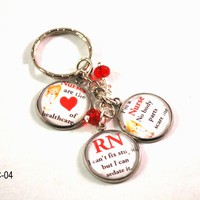 Nurse RN Key Chain Ring