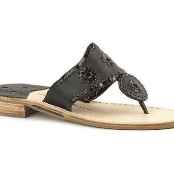 Palm Beach Navajo Sandal in Black by Jack Rogers
