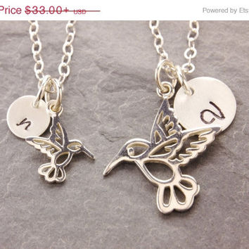 Shop matching mother daughter necklaces on wanelo sale mom and daughter necklace humming bird pair necklace ma jewelry aloadofball Images