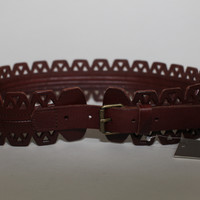 Wide Leather Detailed Belt (Anthropologie)