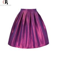 High Waist Pleats Mini A Line Skater Casual Skirt 7 Colors One Size Spring Summer New Women Fashion