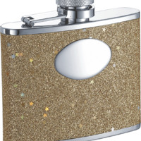 Visol Vegas Girl Glittered 4-oz. Bridesmaids Flask - Free Engraving