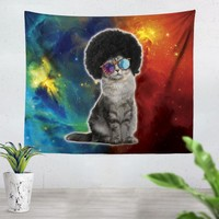 Afro Cat Tapestry