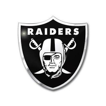 Licensed Official NFL Oakland Raiders Premium Vinyl Decal / Sticker / Emblem - Pick Your Pack