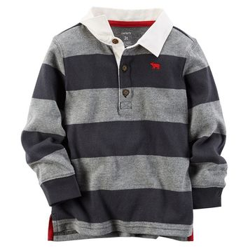 Carter's Striped Rugby Polo - Boys