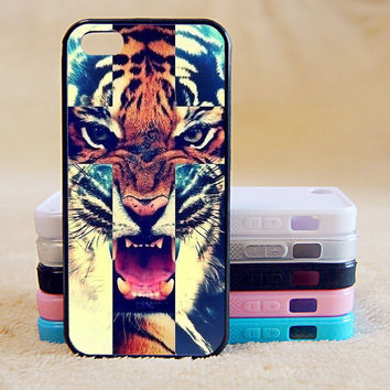 Tiger,Custom Case, iPhone 4/4s/5/5s/5C, Samsung Galaxy S2/S3/S4/S5/Note 2/3, Htc One S/M7/M8, Moto G/X