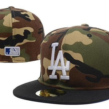 PEAPON Los Angeles Dodgers New Era MLB Authentic Collection 59FIFTY Cap Camouflage-White LA