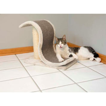 Iconic Pet - Scratch and Slide Wave Scratcher with Sisal Post - Grey