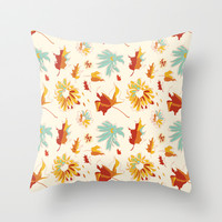Autumn/Fall Throw Pillow by Marco Angeles