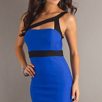 Short Dresses Under $100, One Shoulder Cocktail Dresses- PromGirl