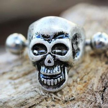 316L Stainless Steel Wicked Skull Cartilage Cuff Earring