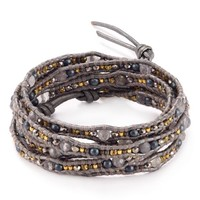 Chan Luu Gray Mix Leather Wrap Bracelet | Bloomingdales's