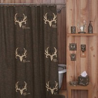 Bone Collector Shower Curtain in Brown - 07170010000BC - Shower Curtains - Shower Curtains & Accessories - Bed & Bath
