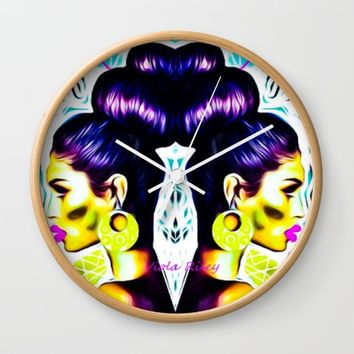 QUEEN OF UPDO Wall Clock by violajohnsonriley