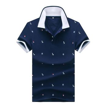 Men's Breathable Polo Shirt With Animal Print( M-3XL)